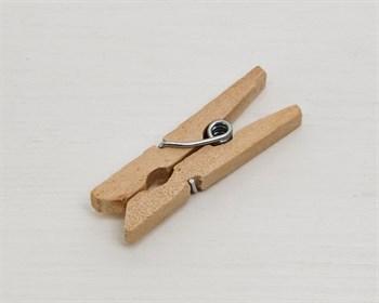 Прищепка декоративная, деревянная, 3 см, 1шт. - фото 9140