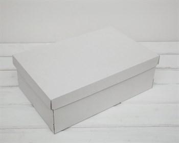УЦЕНКА Коробка из плотного картона, 33,5х22х11,5 см, крышка-дно, белая - фото 9145