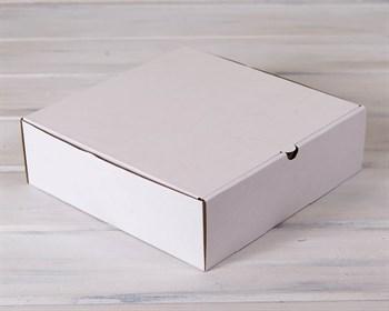 УЦЕНКА Коробка для высокого пирога 28х28х8,5 см из плотного картона, белая - фото 9150