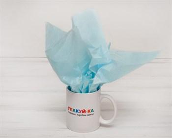 Бумага тишью, небесно-голубая, 50х66 см - фото 9165