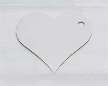 Бирка картонная, сердце, белая - фото 9272