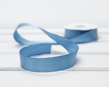 Лента атласная, 24 мм, темно-голубая, 1 м - фото 9321