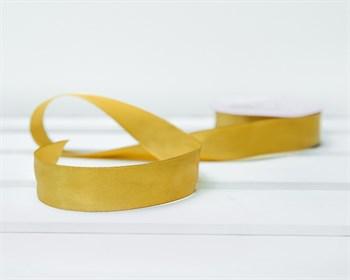 Лента атласная, 24 мм, золотая, 27 м - фото 9330