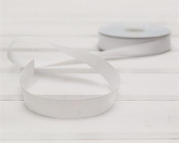 Лента репсовая, 20 мм, белая, 1 м - фото 9386