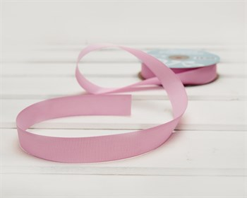 Лента репсовая, 20 мм, розовая, 27 м - фото 9397