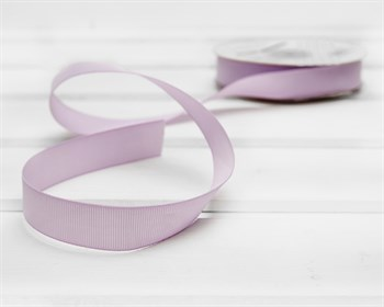 Лента репсовая, 20 мм, светло-лиловая, 1 м - фото 9398