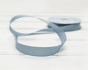 Лента репсовая, 20 мм, темно-голубая, 27 м - фото 9401