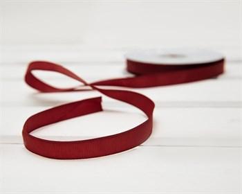 Лента репсовая, 12 мм, темно-красная, 1 м - фото 9419