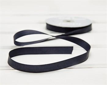 Лента репсовая, 12 мм, темно-синяя, 1 м - фото 9421