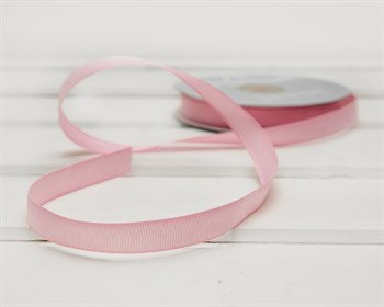 Лента репсовая, 12 мм, розовая, 1 м - фото 9442
