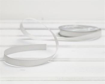 Лента репсовая, 12 мм, белая, 1 м - фото 9444