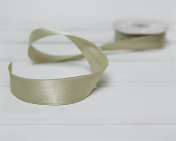 Лента атласная, 24 мм, светло-фисташковая, 1 м - фото 9491