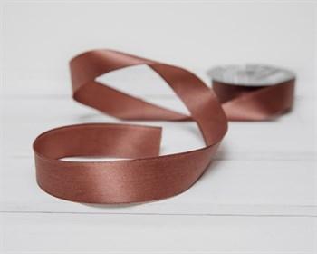 Лента атласная, 24 мм, розово-коричневая, 1 м - фото 9500