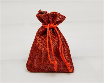Мешочек подарочный из холщи, 7х9 см, красный, 1 шт. - фото 9516