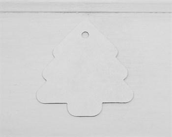 Бирка картонная, ёлка, белая - фото 9532