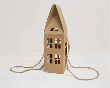 Коробка декоративная  Домик  с ручками и окошками, 11х11х37 см - фото 9547