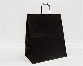 Крафт пакет бумажный, 37х32х19 см, черный - фото 9595