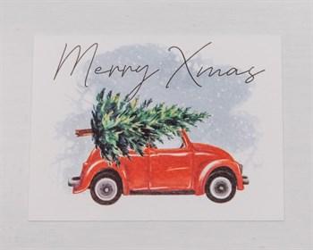 Открытка  «Merry Xmas», 8х6см, 1шт. - фото 9638
