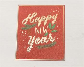 """Открытка """"Happy New Year"""", 8,8х10,7см, 1 шт. - фото 9642"""