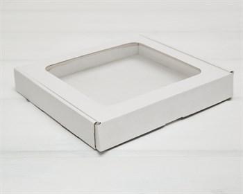 Коробка плоская с окошком, 22,5х19,5х3,5 см, белая - фото 9666