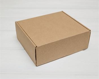 Коробка для посылок, 22х20х8,5 см, из плотного картона, крафт - фото 9676