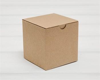 Коробка для посылок, 10х10х10 см, из плотного картона, крафт - фото 9698