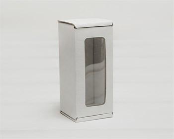 Коробка с окошком, 12х5,5х5,5 см, из плотного картона, белая - фото 9703