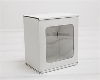 Коробка с окошком, 15х14х10 см, из плотного картона, белая - фото 9708