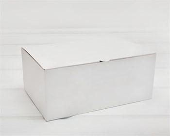 Коробка для посылок, 24х16х10 см, из плотного картона, белая - фото 9727