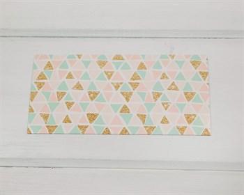 """Конверт для денег  """"Праздничные треугольнички"""", 16,5 х 8 см, 1 шт. - фото 9782"""