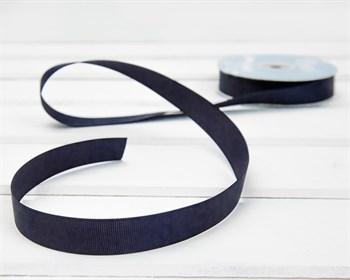 Лента репсовая, 20 мм, темно-синяя, 1 м - фото 9911