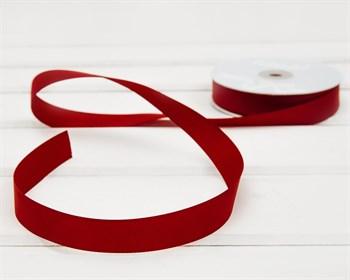 Лента репсовая, 20 мм, темно-красная, 27 м - фото 9914