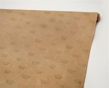 Бумага упаковочная, 40г/м2, короны, 72см х 10м, 1 рулон - фото 9939