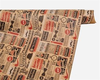 Бумага упаковочная, 50х70 см,  Газетные вырезки , 1 лист - фото 9996