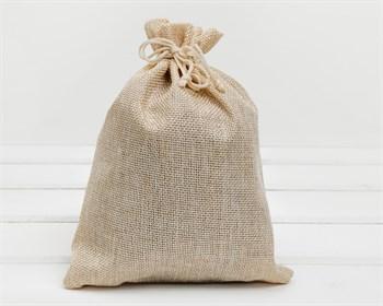Мешочек подарочный из холщи, 17х22 см, бежевый, 1 шт.
