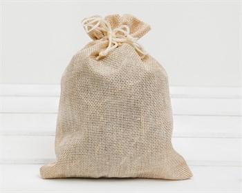 Мешочек подарочный из холщи, 15х20 см, бежевый, 1 шт.