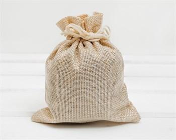Мешочек подарочный из холщи, 11,5х14 см, бежевый, 1 шт.
