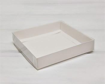 Коробка с прозрачной крышкой Классика, 16х16х3 см, белая