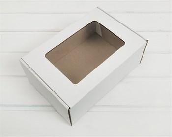 УЦЕНКА Коробка с окошком, 25х17х10 см, из плотного картона, белая