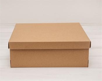 УЦЕНКА Коробка из плотного картона, 33х31х11,5 см, крышка-дно, крафт