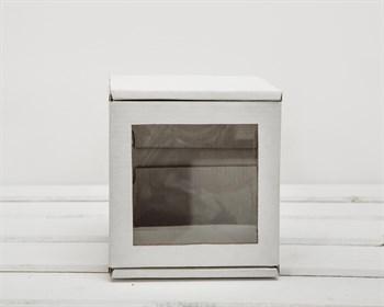 УЦЕНКА Коробка с окошком, 12х12х12 см, из плотного картона, белая