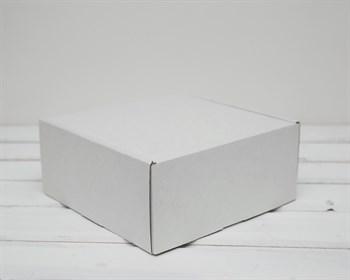 УЦЕНКА Коробка для посылок, 20х20х9 см, из плотного картона, белая