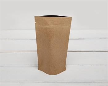 Пакет Дой-пак с zip-lock, 19х10,5х3 см, фольгированный, коричневый