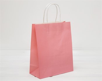 УЦЕНКА Пакет подарочный, 26х21х10 см, с кручеными ручками, розовый