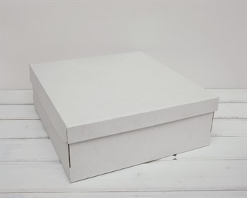 УЦЕНКА Коробка из плотного картона, 33х31х11,5 см, крышка-дно, белая