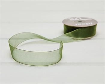 Лента капроновая, 24 мм, зеленая, 1 м