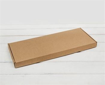 Коробка 44х18х3 см, из плотного картона, крафт