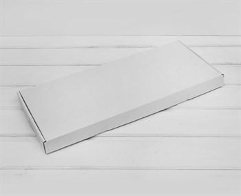 Коробка 44х18х3 см, из плотного картона, белая