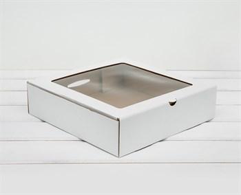 Коробка с окошком, 25х25х6,5 см, белая