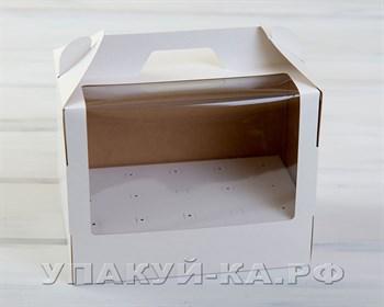 Коробка для 15 кейк-попсов вертикальная, 25х15х20 см, с прозрачным окошком, белая